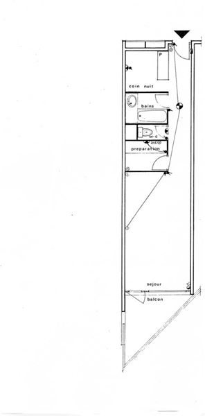 TROIS VALLEES 405 / STUDIO CABIN 4 PERSONS - 1 BRONZE SNOWFLAKE - VTI