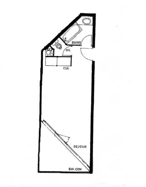 TROIS VALLEES 515 / STUDIO 3 PERSONNES - 1 FLOCON ARGENT - VTI