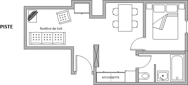 2 Rooms 4 Pers ski-in ski-out / BIOLLEY 22