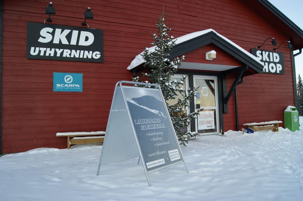 Fjätervålens Sportservice,  Skiduthyrning, Skidshop och Skidverkstad.