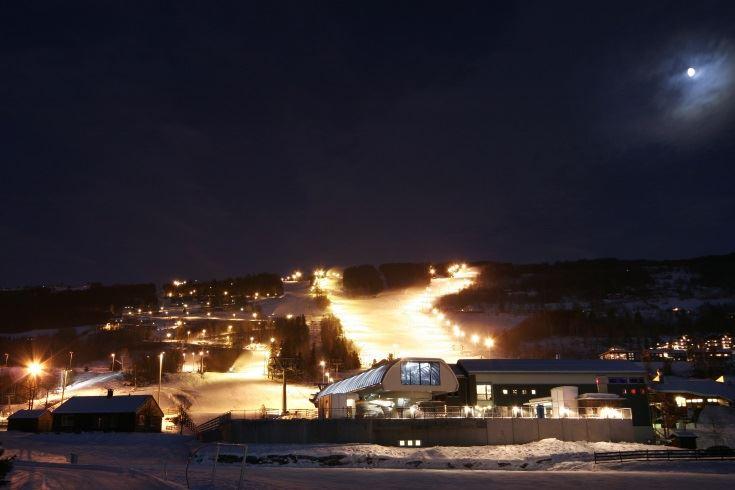 Kveldskjøring i Hafjell