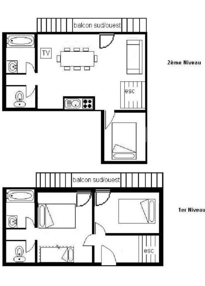 4 Rooms 8 Pers ski-in ski-out / JETTAY 21