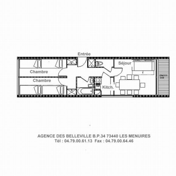 3 Rooms 8 Pers ski-in ski-out / PELVOUX 23