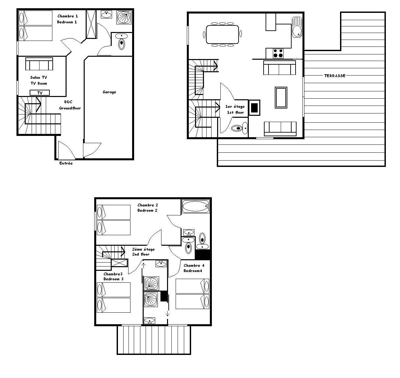 7 Room 8 Pers Chalet / CHALET DE LA RIONDAZ 3