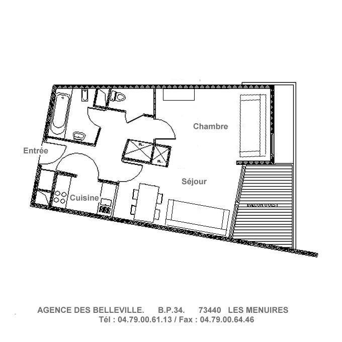 2 Rooms 4 Pers ski-in ski-out / SOLDANELLES A 502