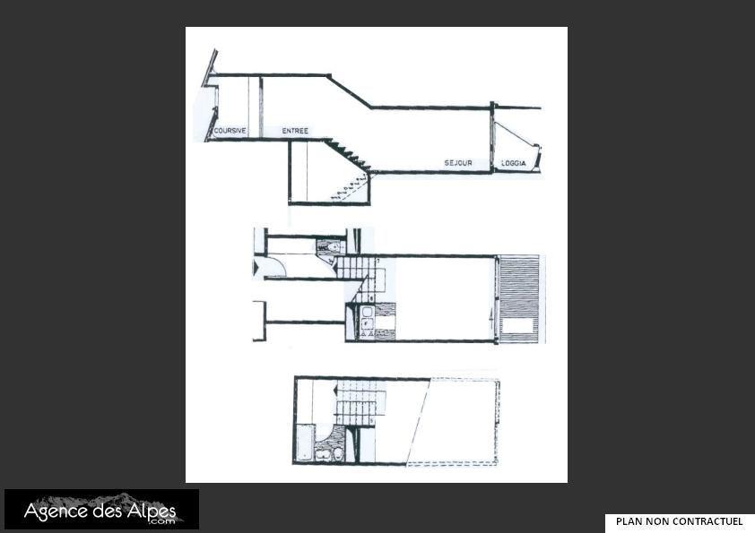 Studio 4 Pers skis aux pieds / COTE BRUNE 214