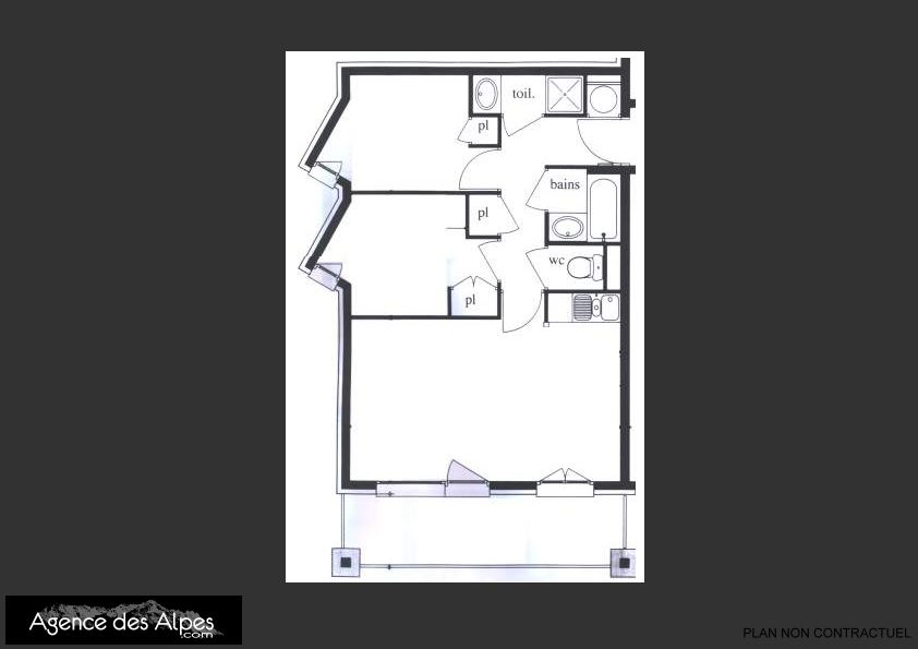 3 Rooms 6/8 Pers ski-inski-out / BOSSON 1