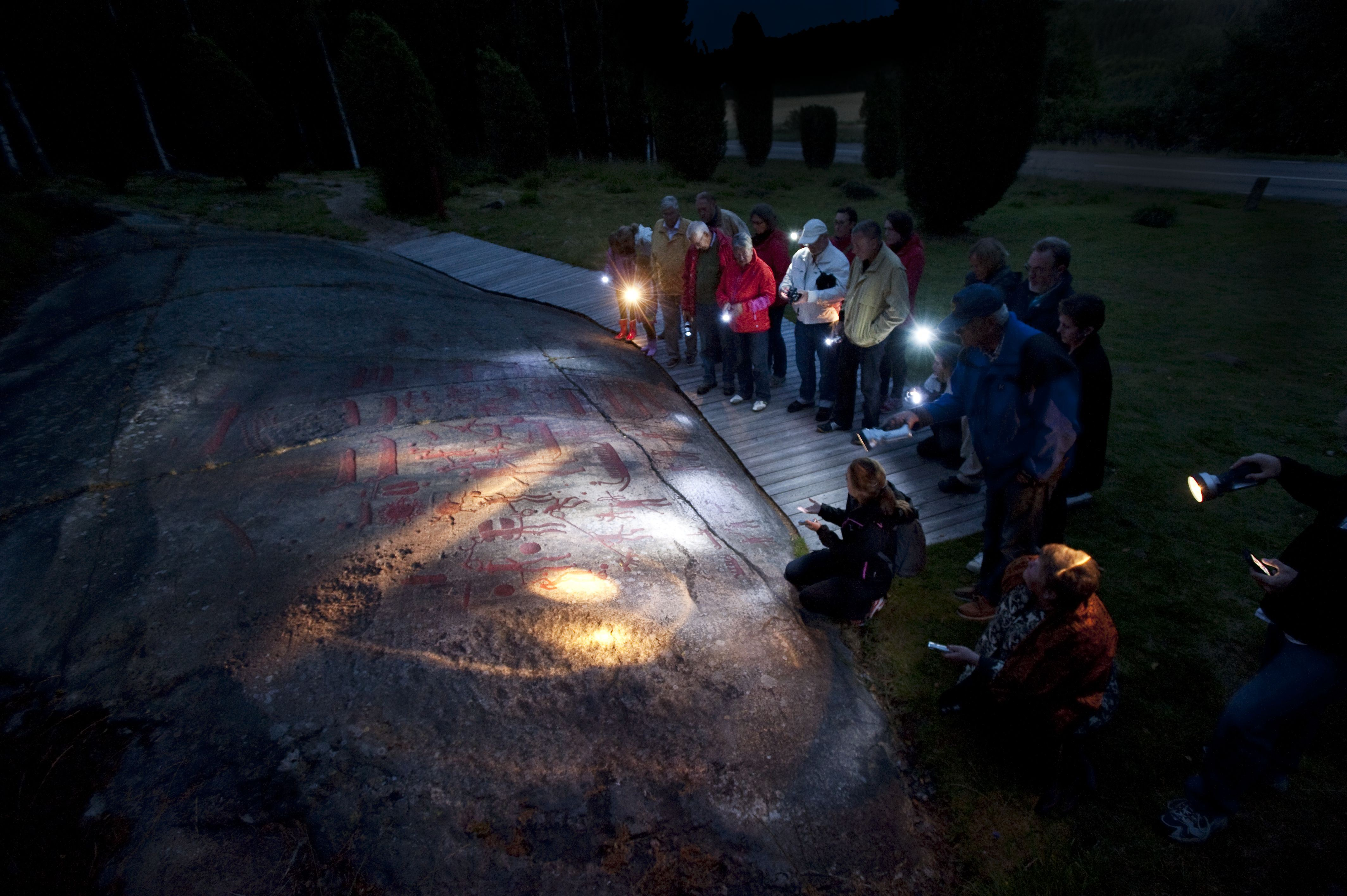 Rock Carvings by Night