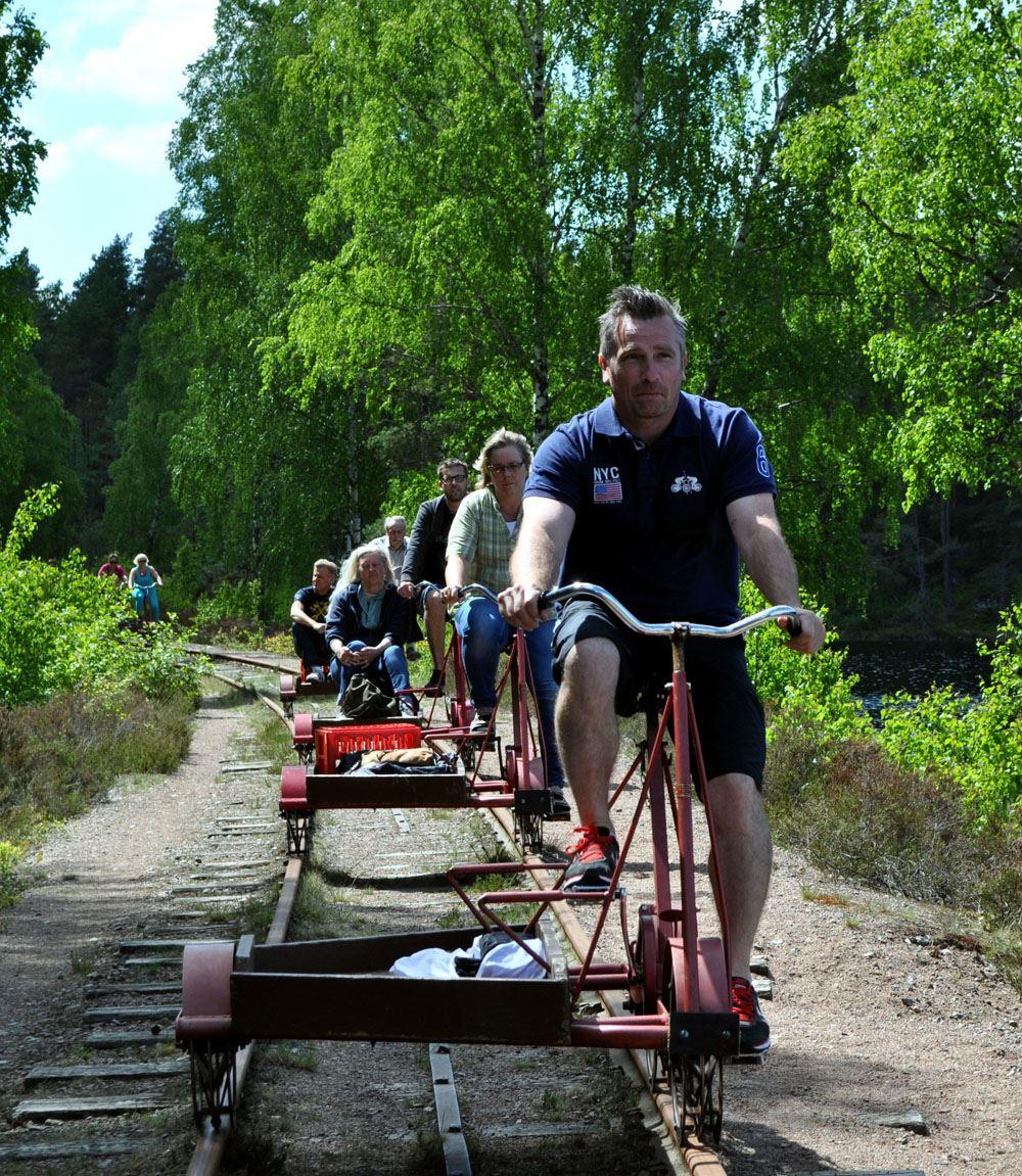 Cykla dressin på Smalspåret från Virserum eller Åseda