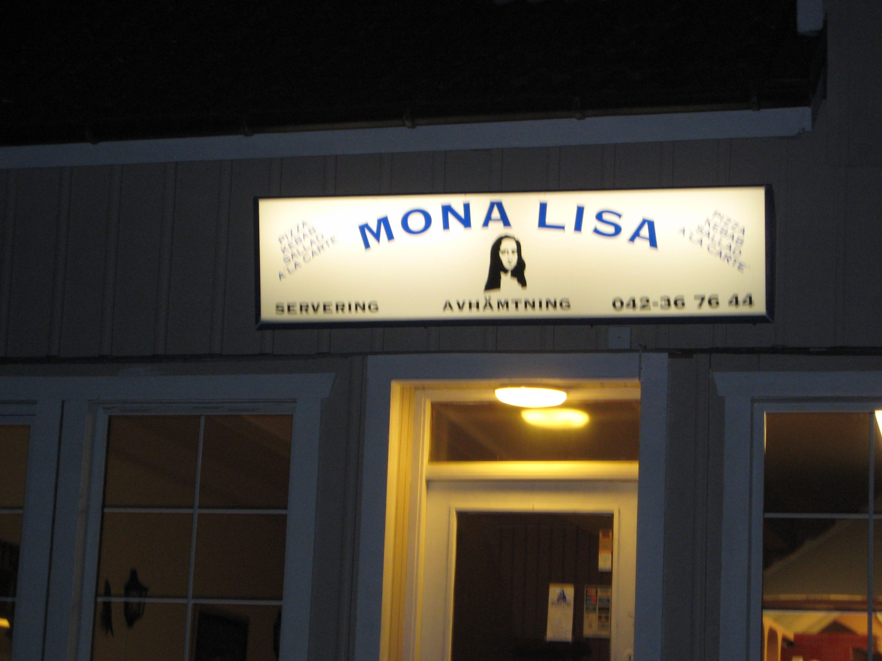 Jenny Rasmussen , Mona Lisa Pizzeria