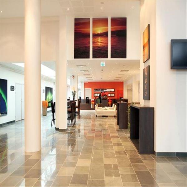 Front desk area Rica Hotel Alta