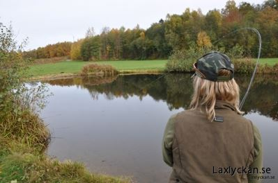 Fly fishing course at the P & T facility in Kulladal