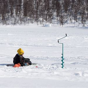 Snowmobile and ice fishing