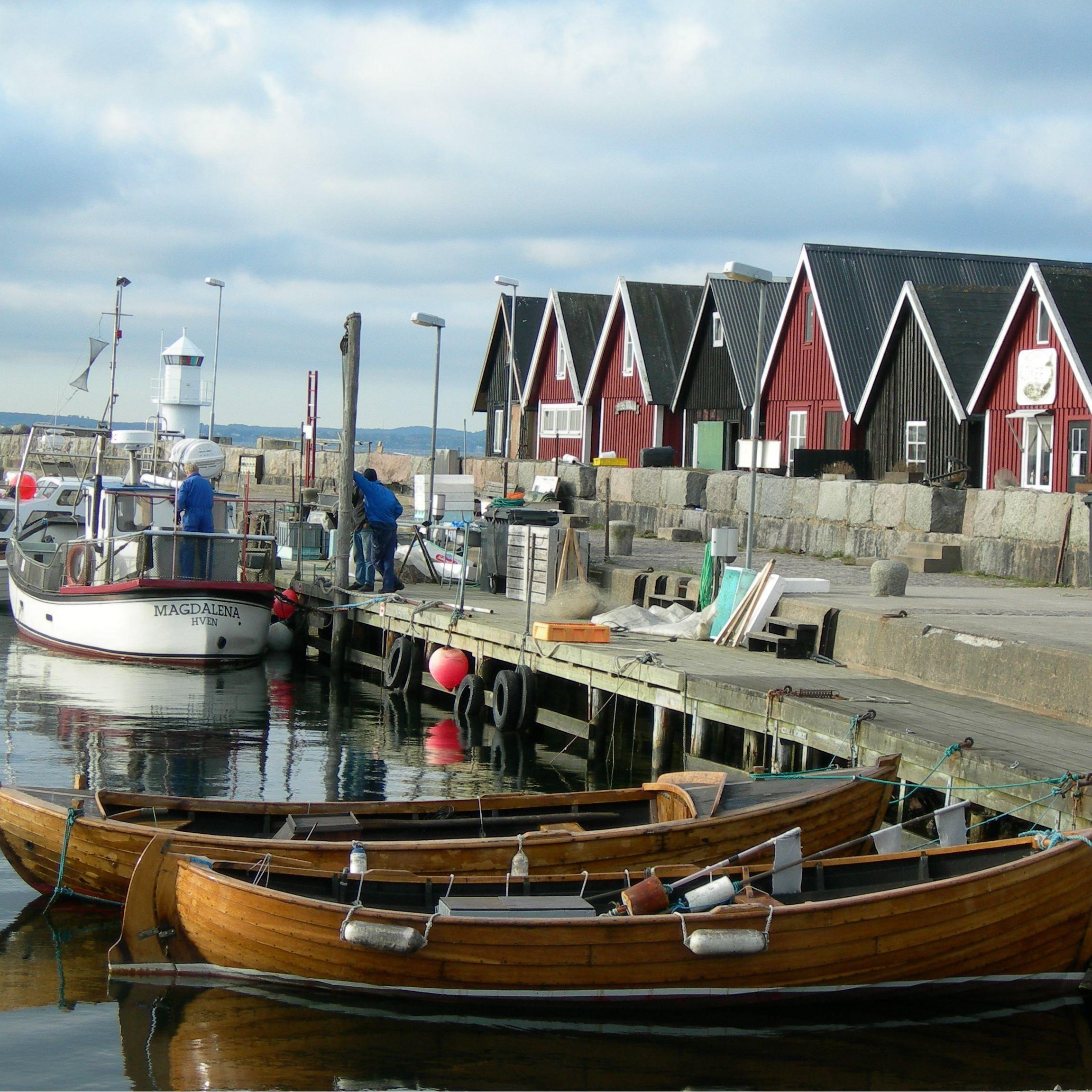 Foto: Turistbyrån Landskrona - Ven, Kyrkbackens hamn