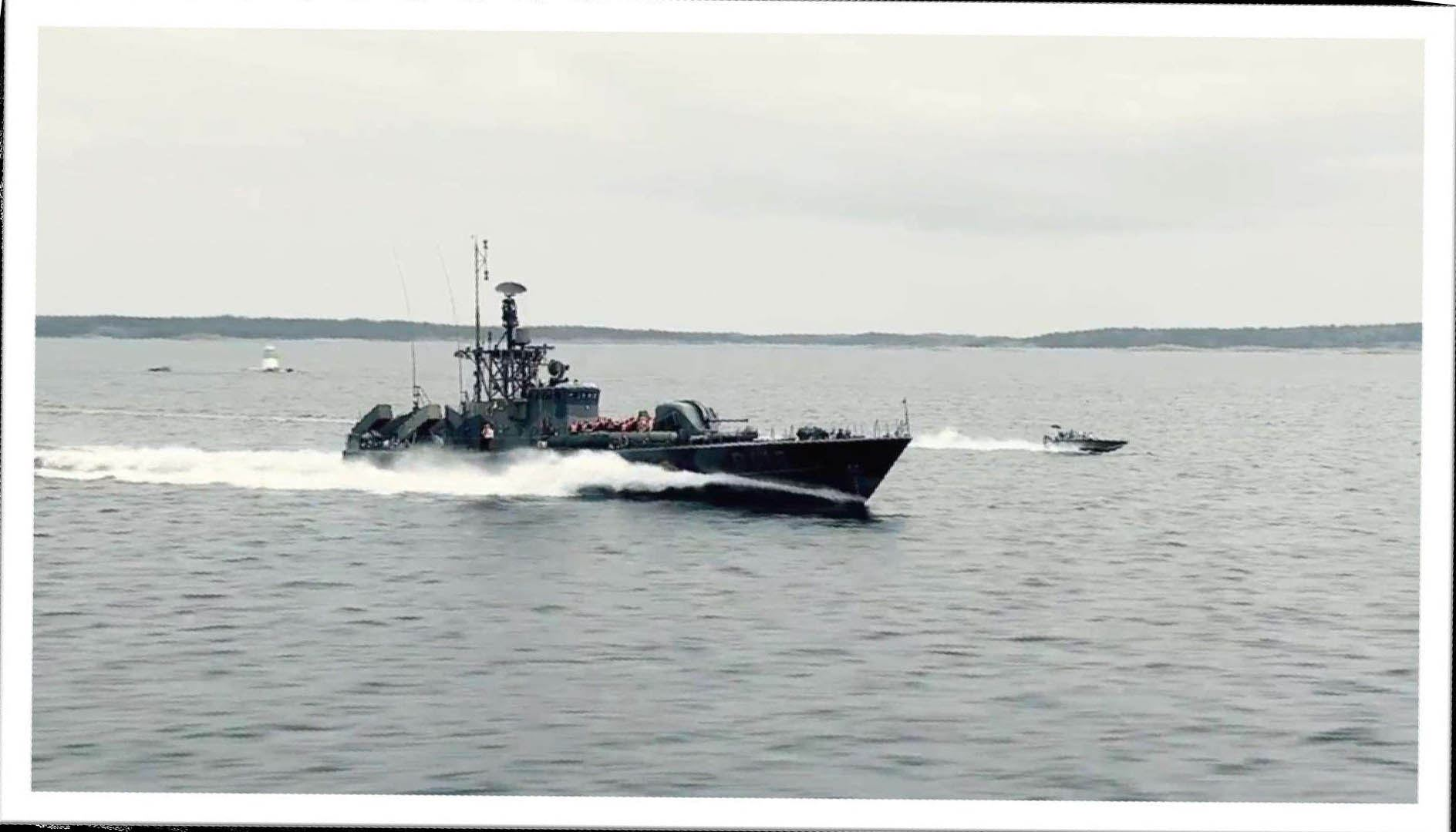 Take a ride with the missile boat R142 Ystad