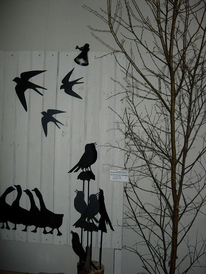 Pålskog smide, Smidesfåglar