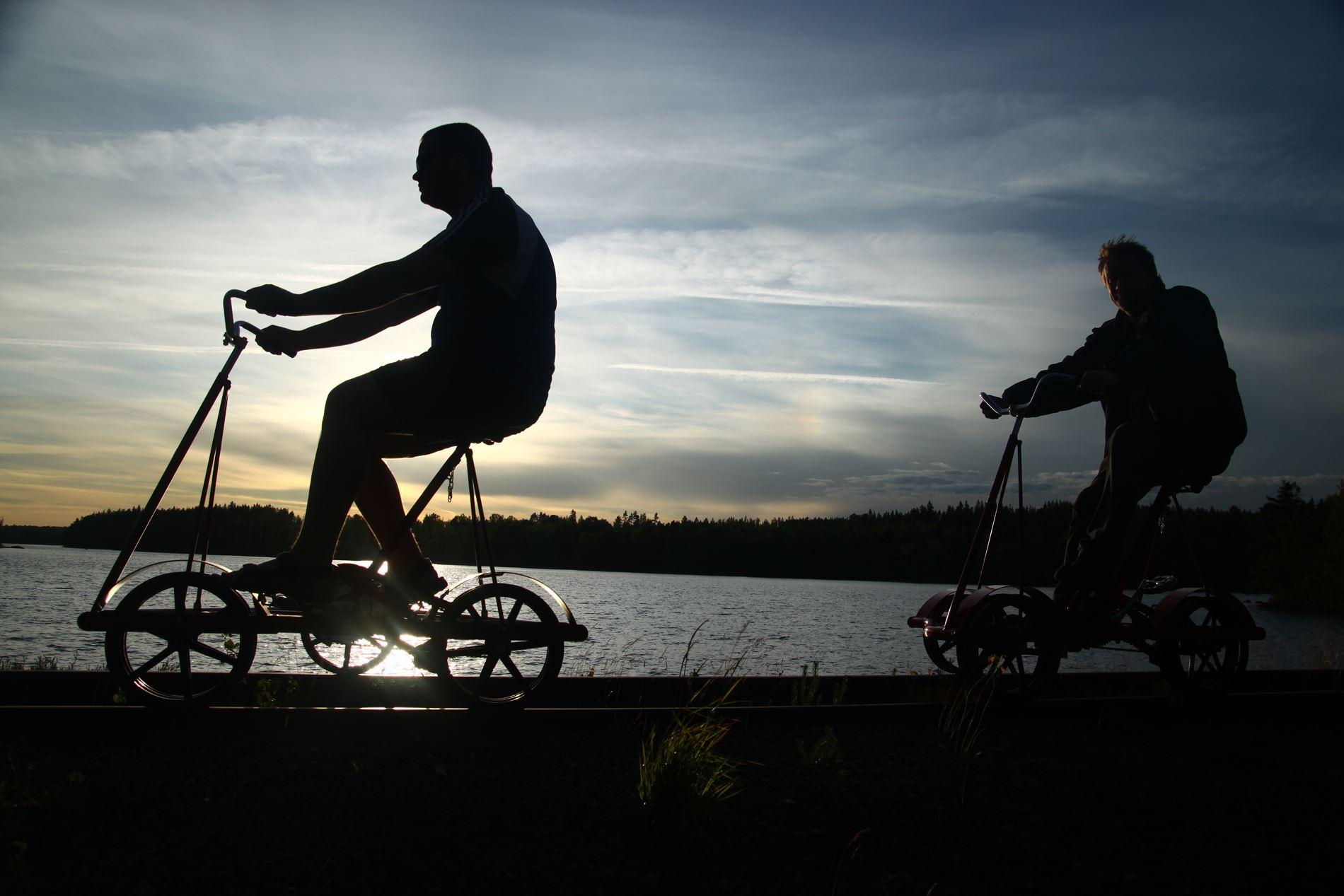 Olaf Lindström,  © Föreningen Smalspåret Växjö-Västervik, Cykla dressin - Åseda - Hultanäs - Triabo