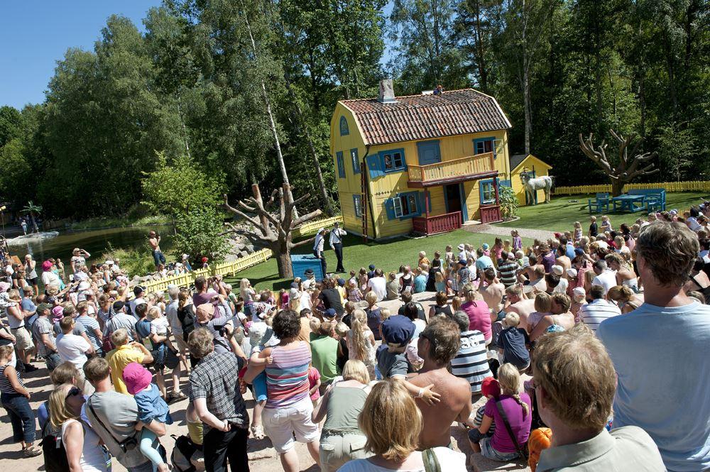 © Astrid Lindgrens Värld, Villa villekulla med publik
