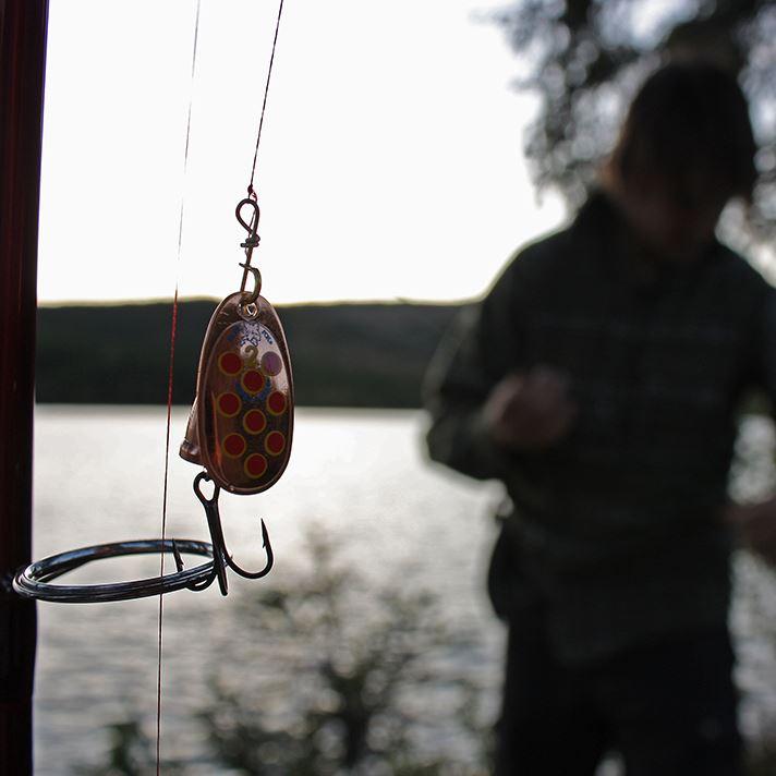 Fishing in Älganässjön