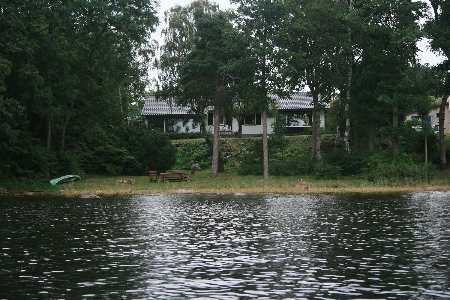 Villa at the beach of lake Ivösjön