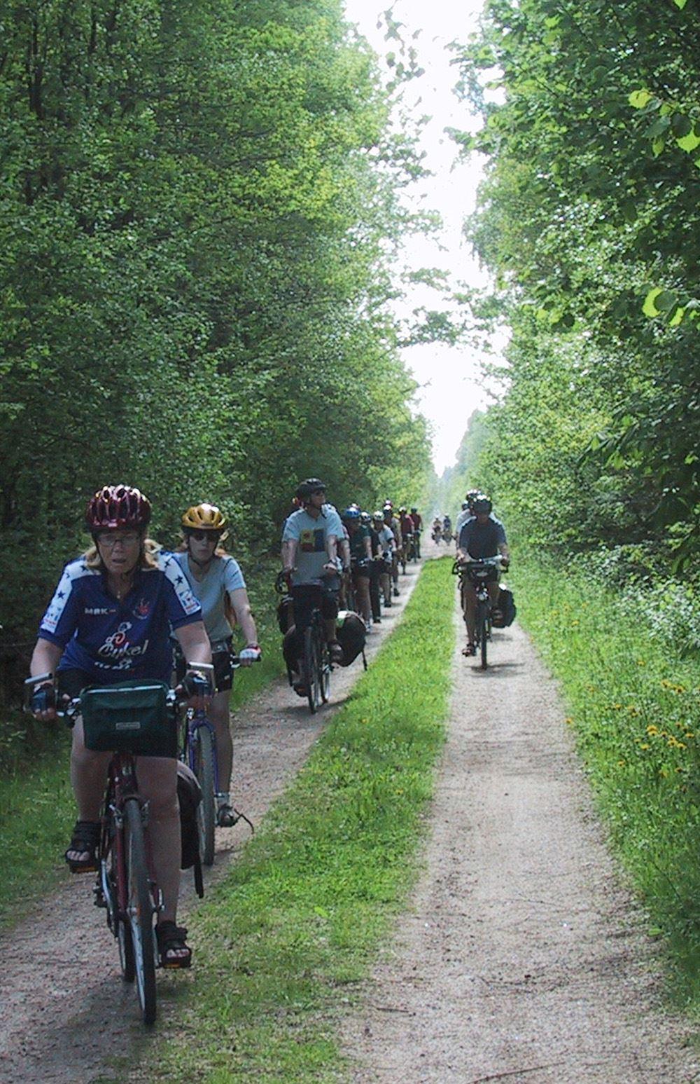 Cyclingtour Banvallsleden (Ryssby-Vislanda) 25 km