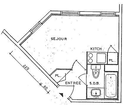 ROCHE BLANCHE 113 / STUDIO 2 PERSONNES - 1 FLOCON BRONZE - CI