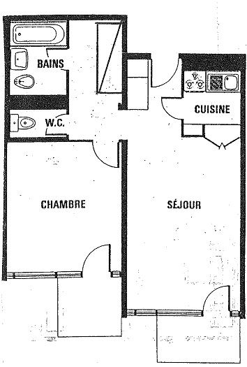 ROC DE PECLET 1 3 / APARTMENT 2 ROOMS 6 PEOPLE - 1 BRONZE SNOWFLAKE - CI