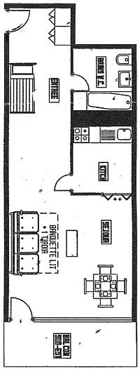 ROC DE PECLET 1 11 / STUDIO 4 PERSONNES - 3 FLOCONS BRONZE - CI