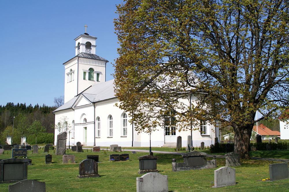 Rumskulla kyrka i Vimmerby kommun.