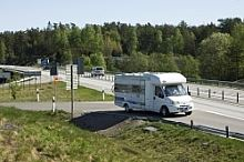 Motorhome parking in Växjö city center