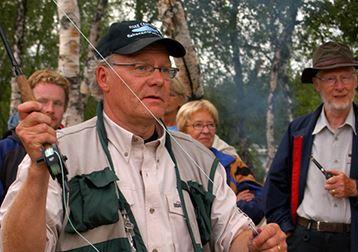 Fiskeinformation vid Udden i Tärnaby - en del i fiskefestivalen