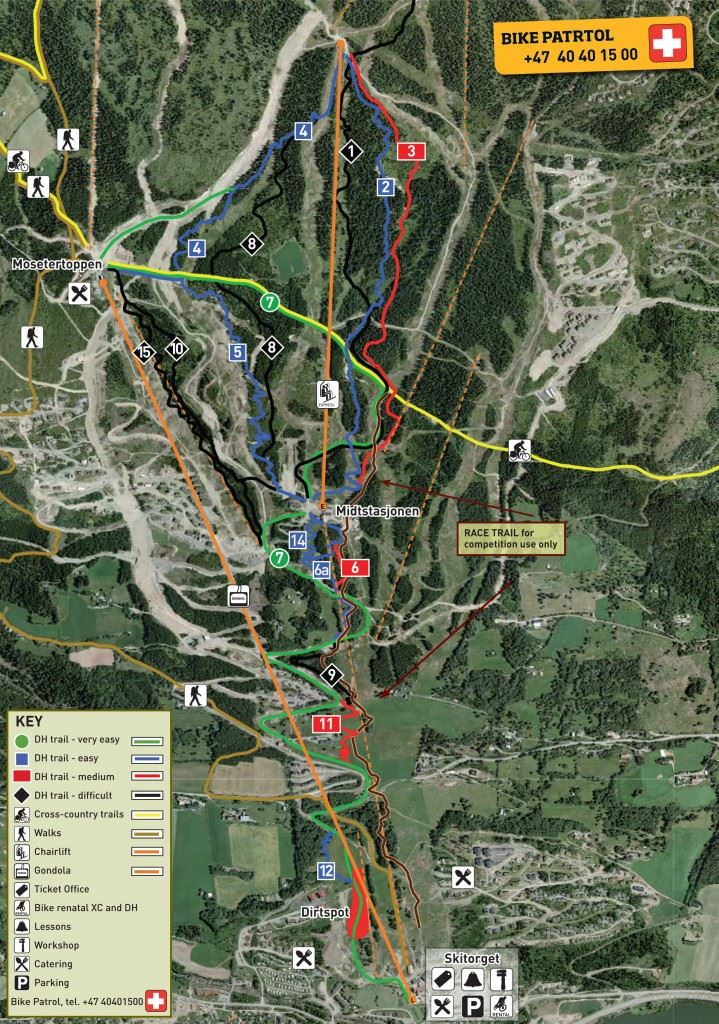 Map of Hafjell Bike Park