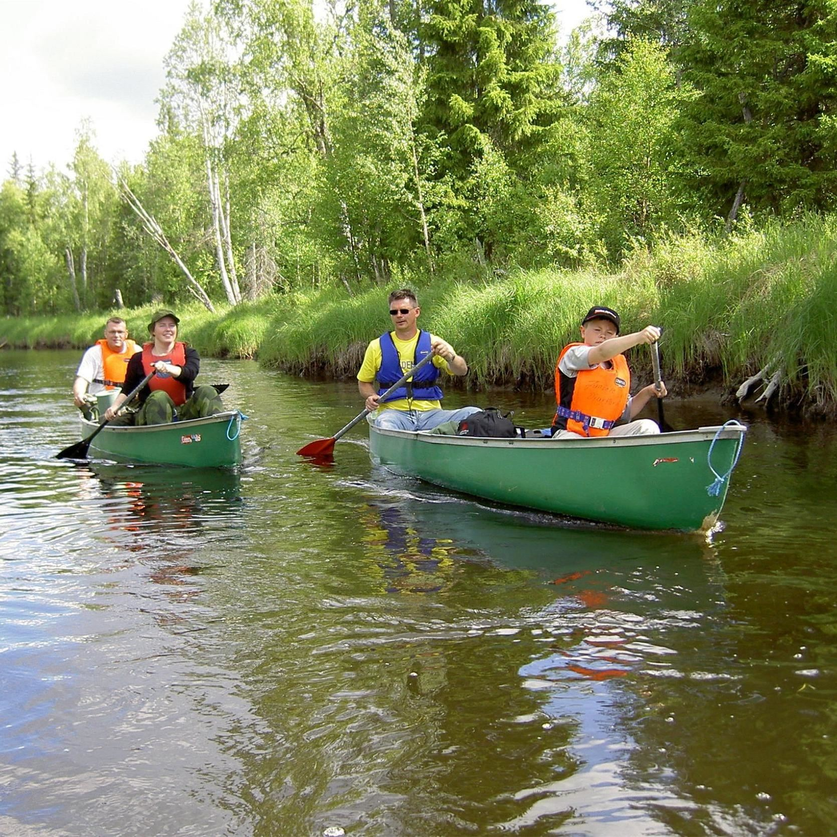 Canoeing in Junsele