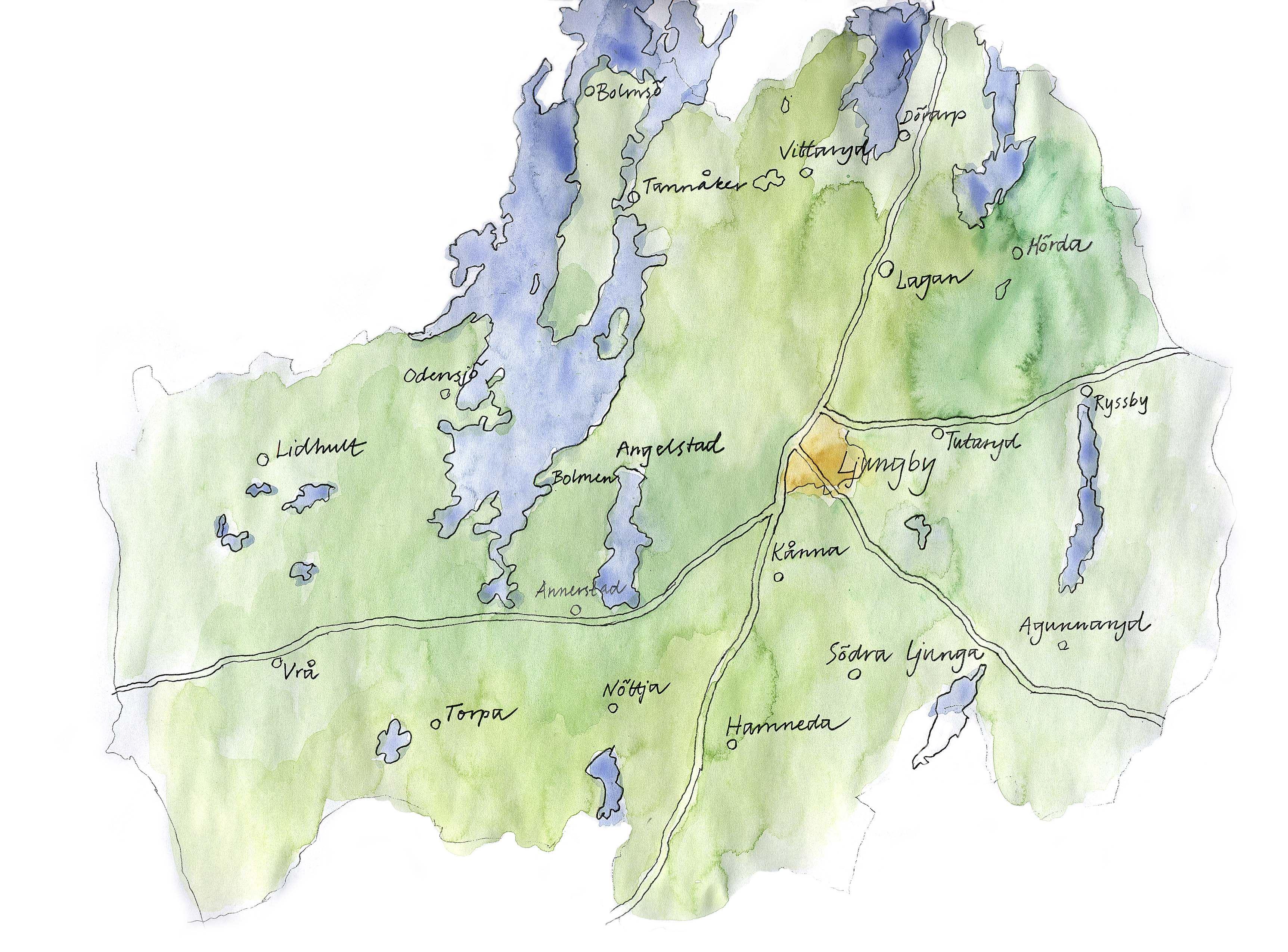 Lebensmittelgeschäft Matöppet in Södra Ljunga