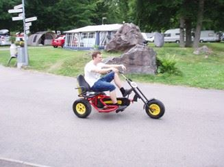 Cykeluthyrning/go-kart Evedals camping