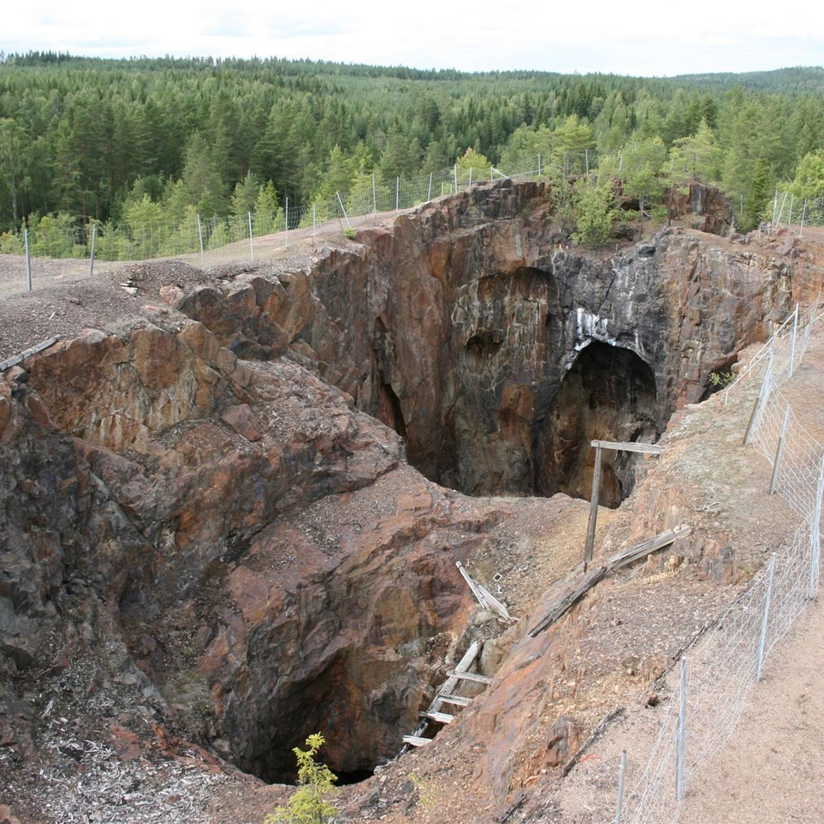 Stollbergs gruvområde - f d Väster Silfberg