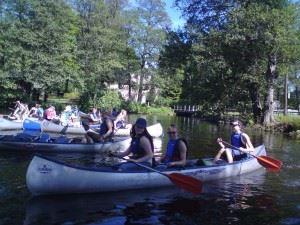 Boat & canoe rental at the Asa youth hostel