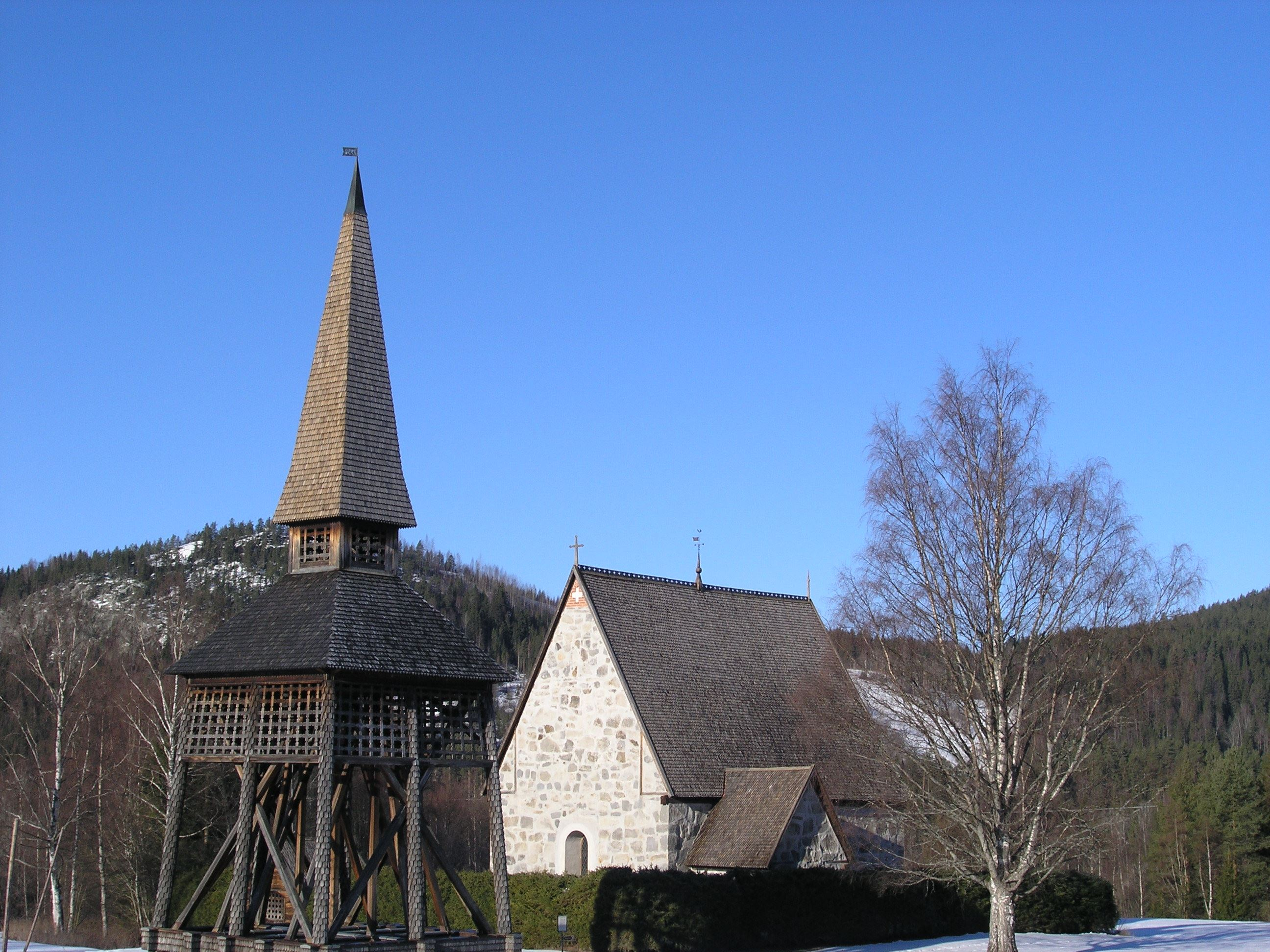 Jermunn Solem, The Old Church in Liden