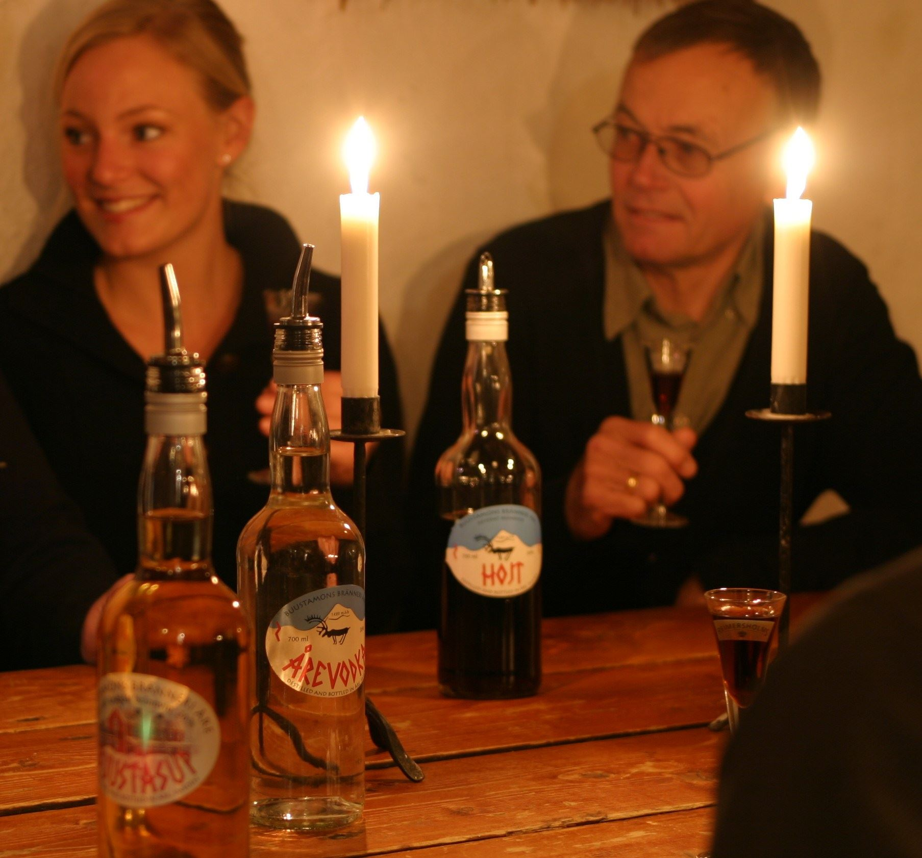 Visit our brännvin cellar at Buustamons Fjällgård