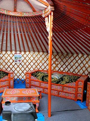 Stay in a yurt