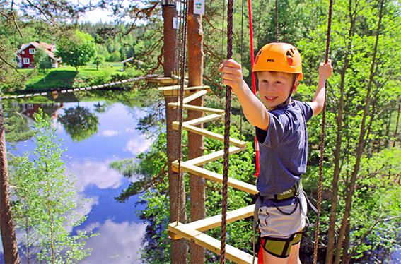 High ropes course, zip line and paintball at HagårdsLagård