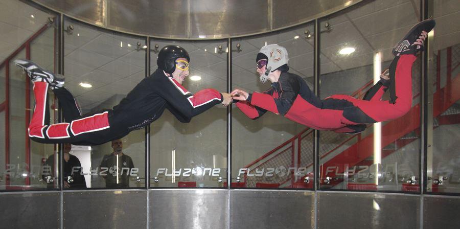 FlyZone : skydiver freefalling