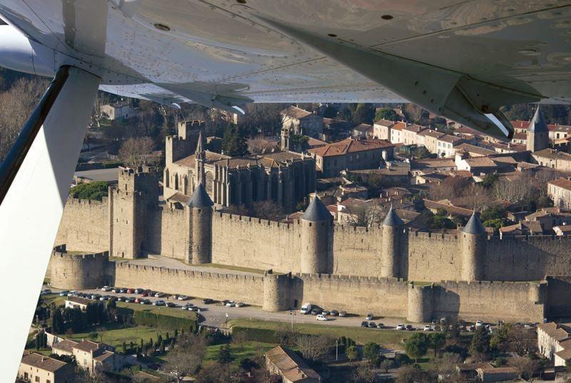 Survol en avion de la région avec Languedoc-Aviation