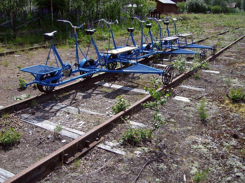 Rail trolley in Sågen