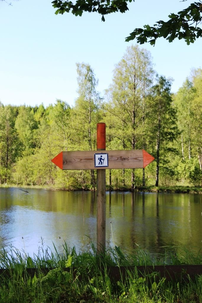 Hikingtracks in Vaggeryds municipality.