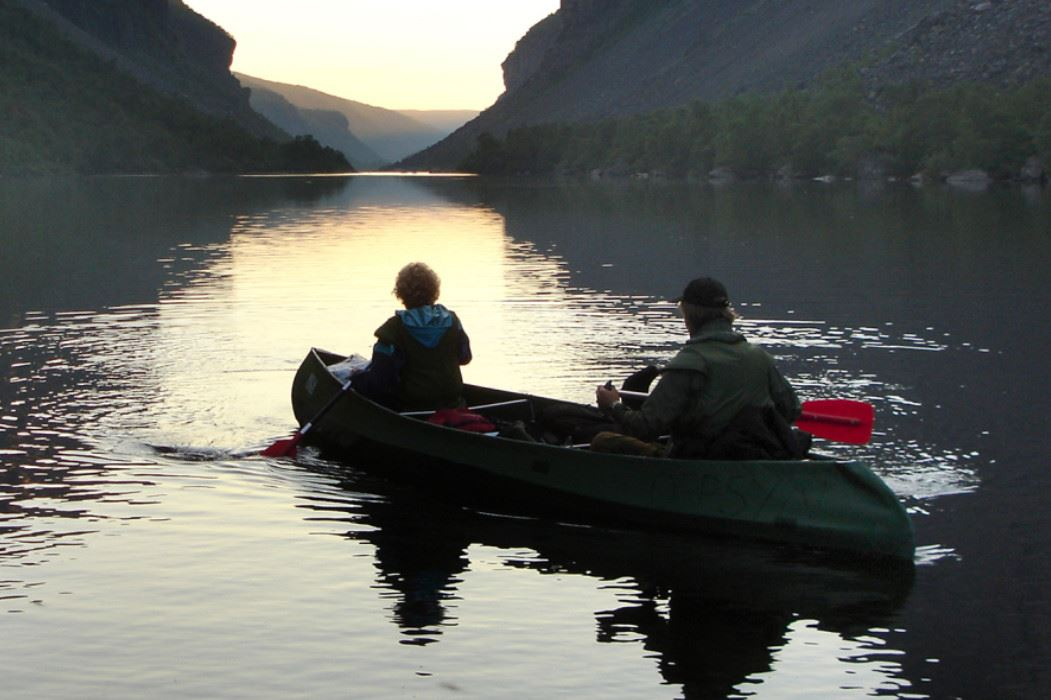 Two-day canoe trip on the Alta River