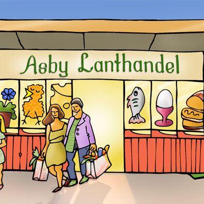 Asby Lanthandel Shop, Café, Catering