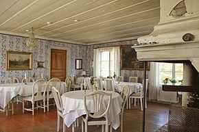 En festsalen där vi serverar våra måltider med plats för 30/35 gäster
