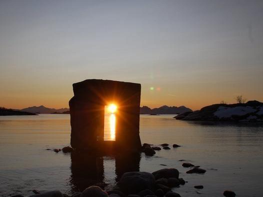 Eye in stone, Artscape Nordland