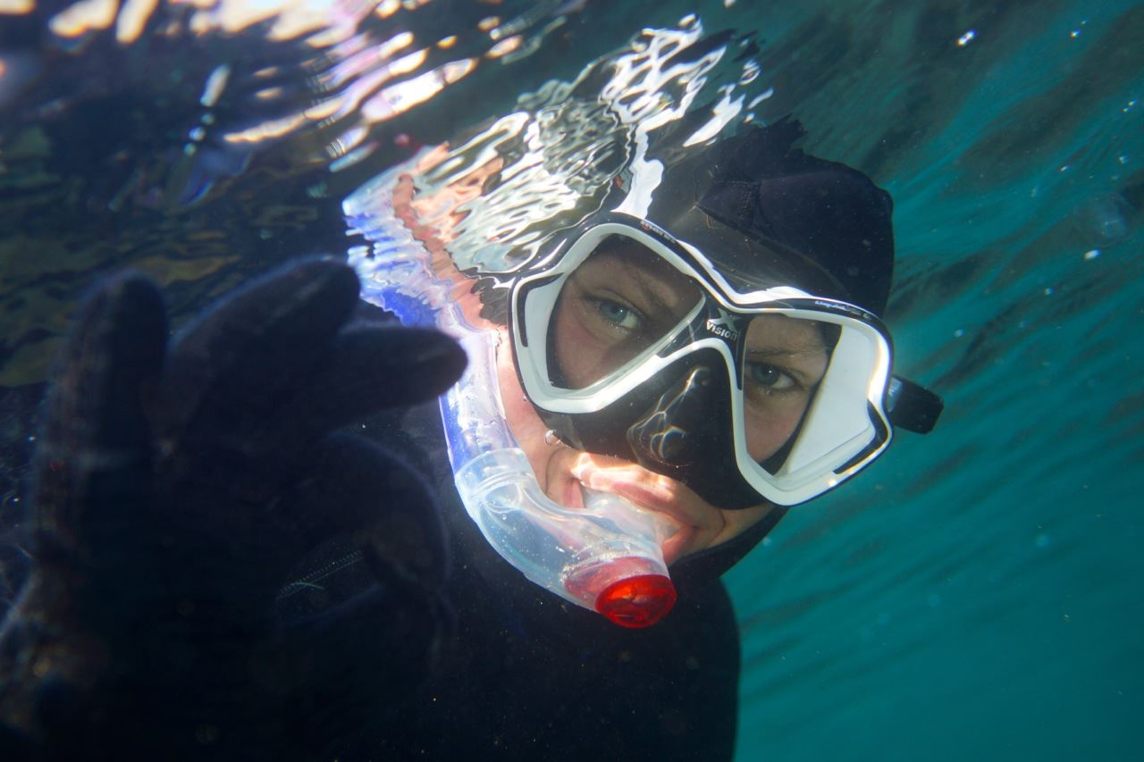 Snorkeling within the Arctic Circle
